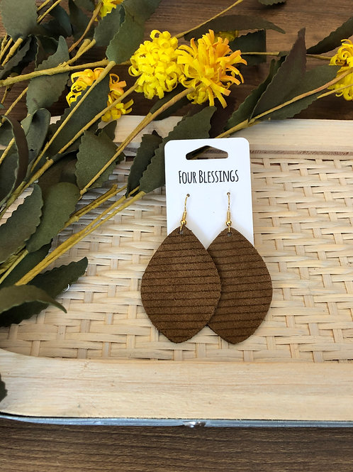 Brown Suede Lined Palm Leaf