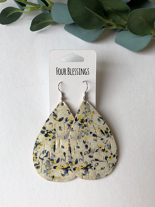 Dainty Yellow and Blue Floral Cork