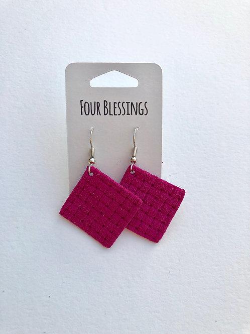 Hot Pink Basketweave Petite Square