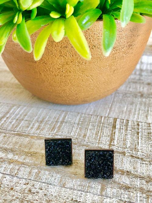Black Square Druzy