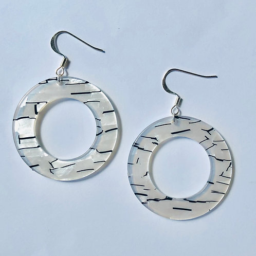 Black & White Acrylic Hoops
