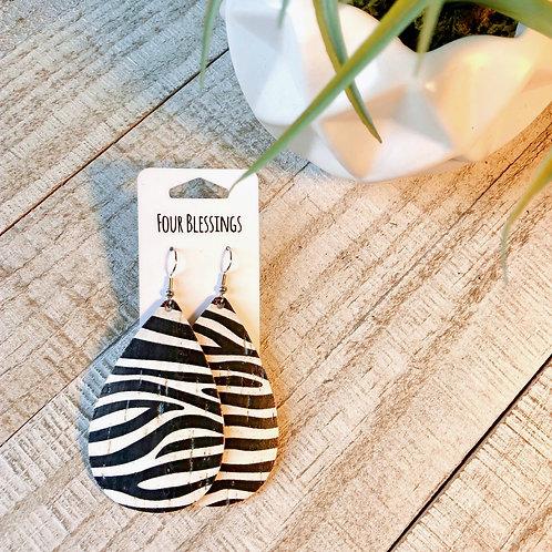 Black and White Zebra Cork