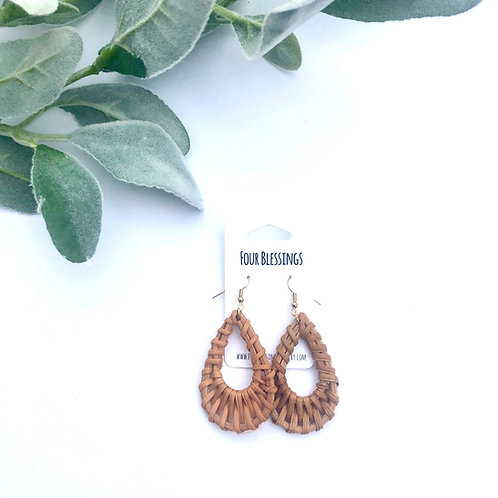 Brown Rattan Traditional Teardrops