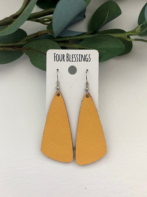 Yellow Saffiano Wedges