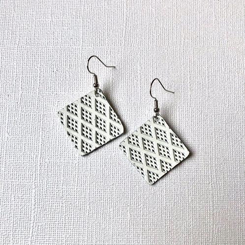 White Textured Petite Squares