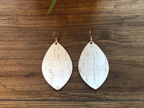 White Cork Palm Leaf