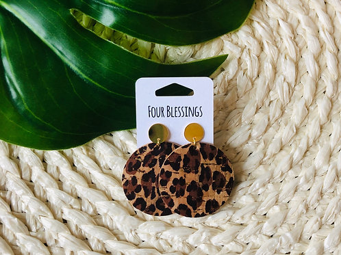 Leopard Cork with Gold Post