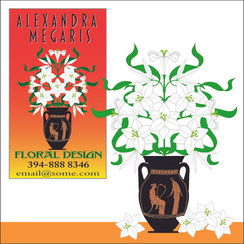 Alexandra Megaris Florist business card