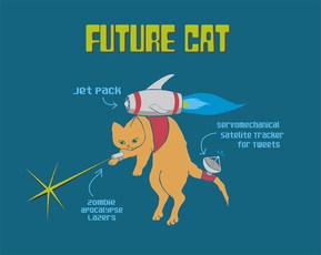 Future Cat T-shirt design