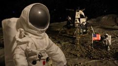 Astronauts on moon