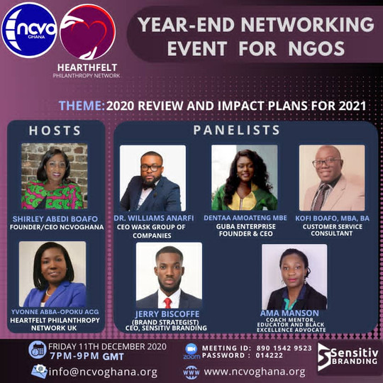 YEAR END NETWORKING EVENT FOR NGOS