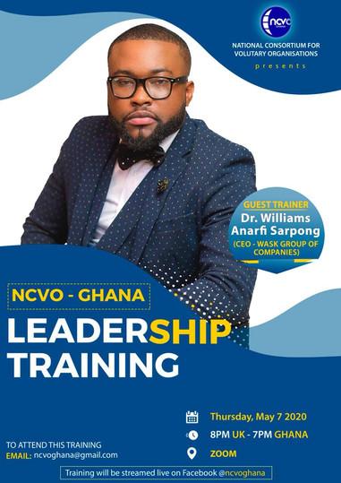 NCVO-GHANA Leadership Training Trainer DR Wask