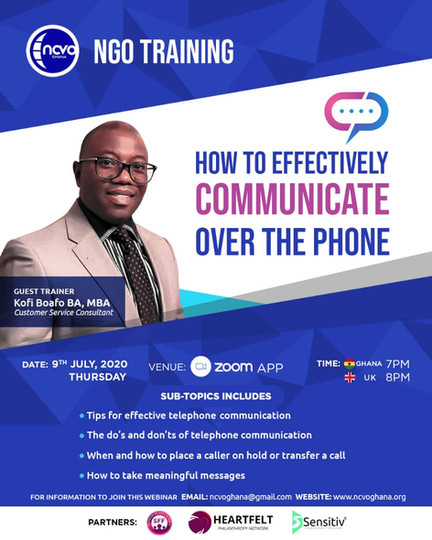 How To Communicate Effectively Over The Phone with Kofi Boafo