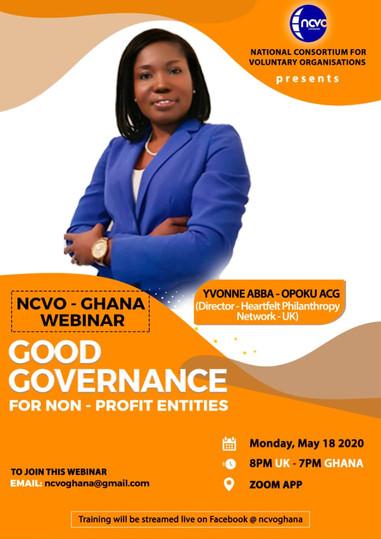 NCVO-GHANA Good Governance For Non Profit Entities Trainer Yvonne Abba