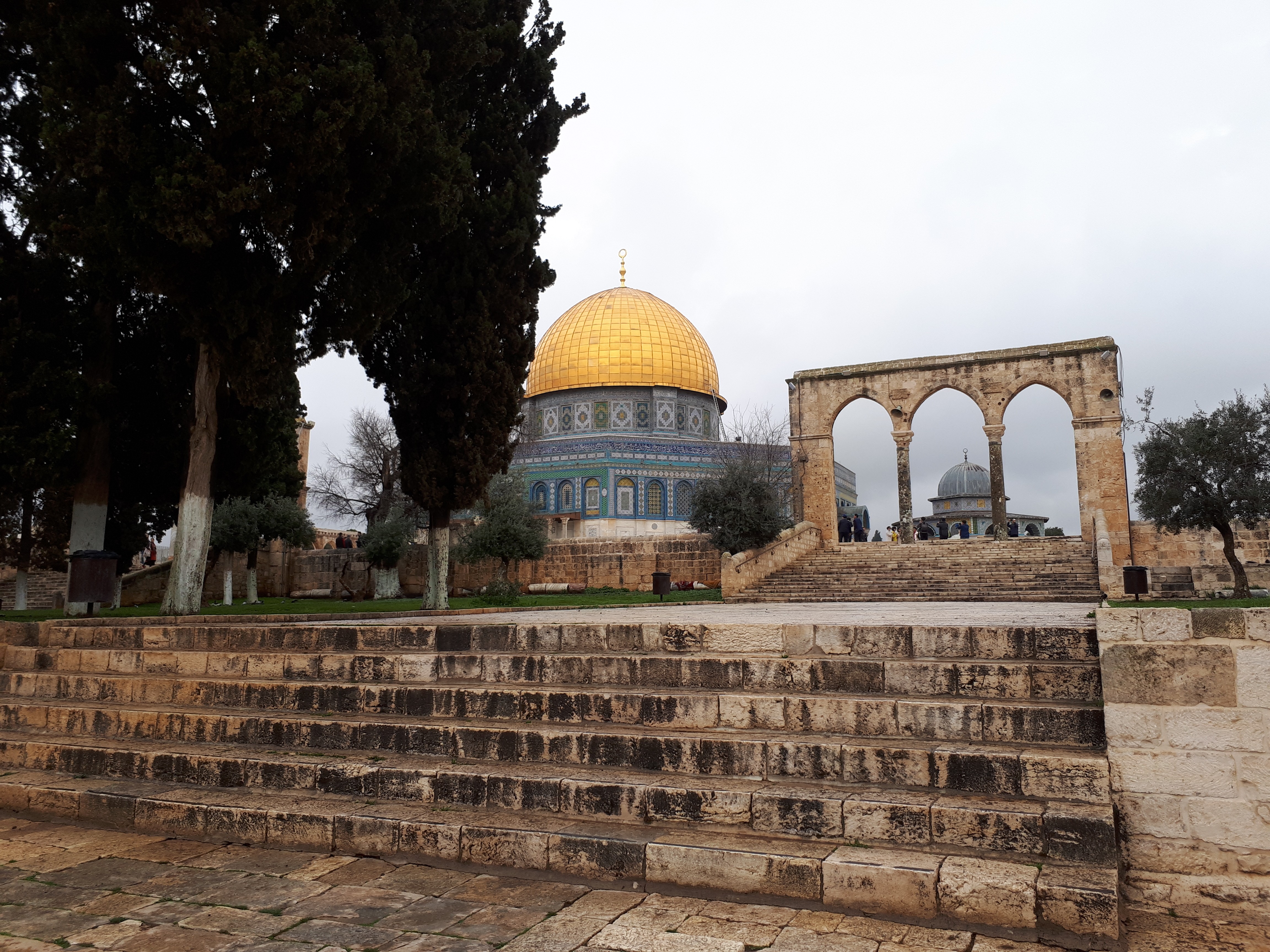 A view up to the Dome of the Rock