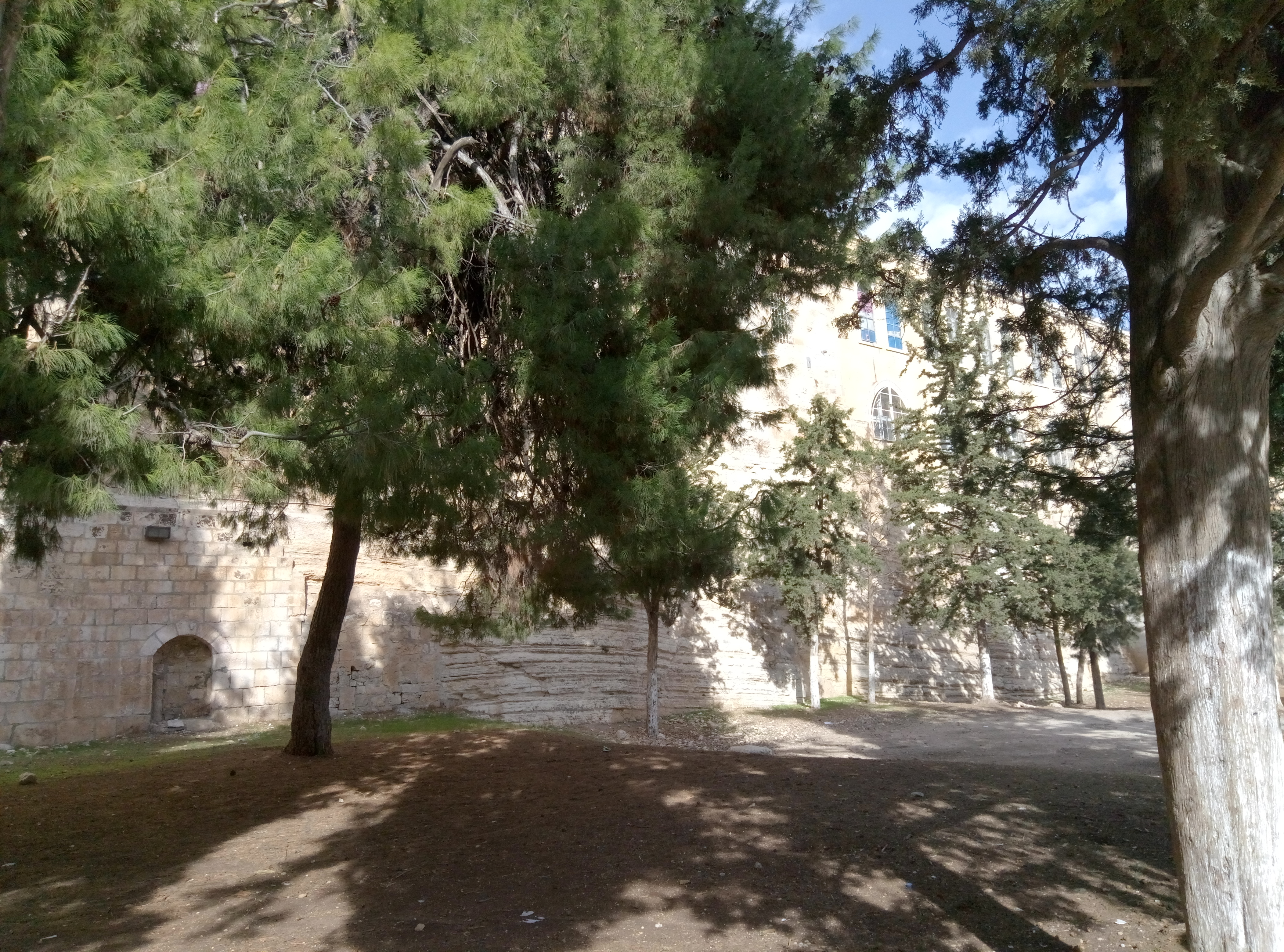 Bedrock in the Temple Mount wall