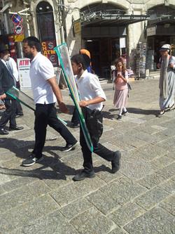 People in the Jewish Quarter