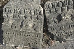 Decorative motifs at Sussita