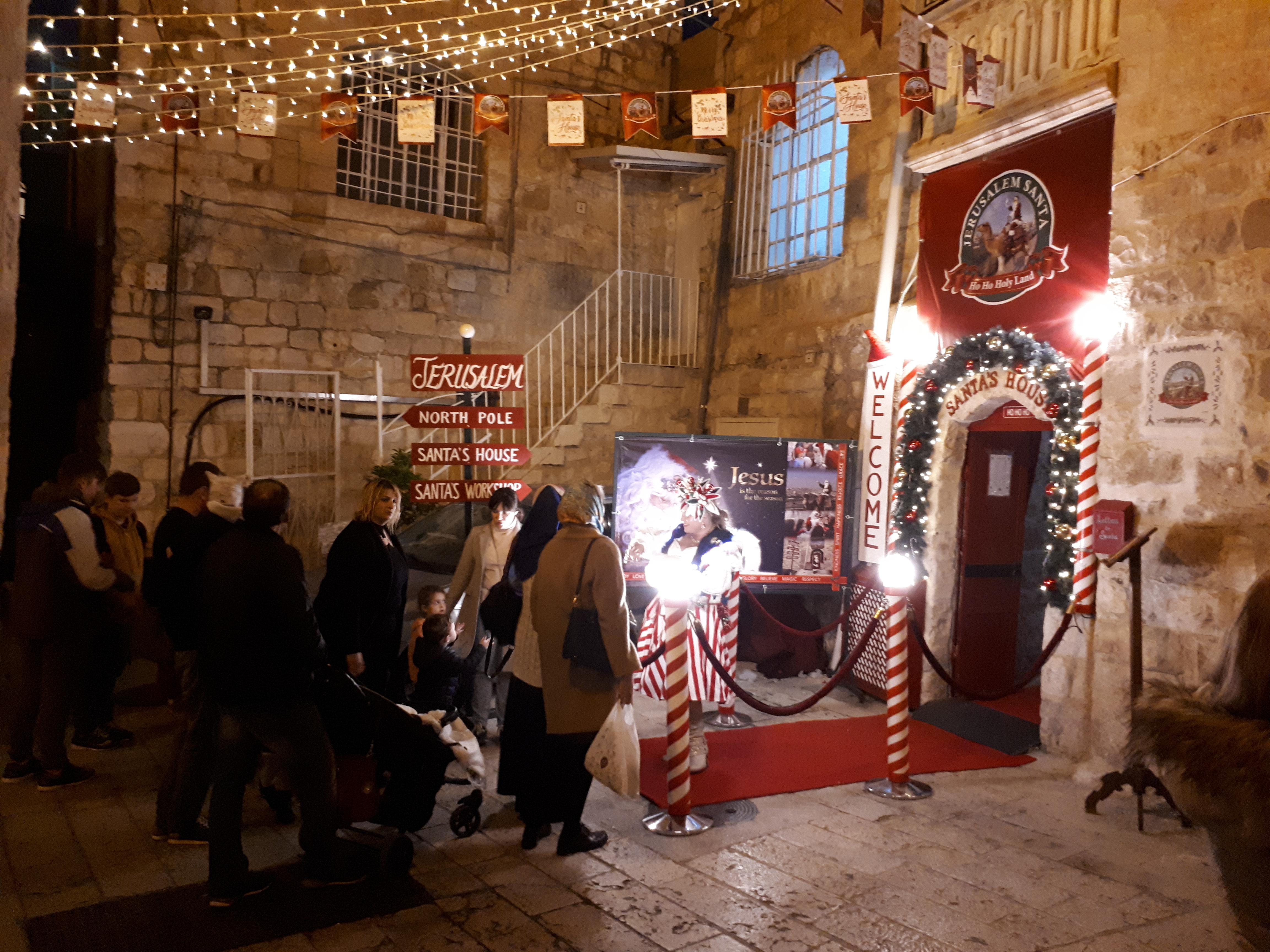Santa in Jerusalem