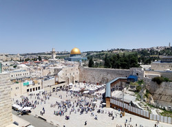 View of the holy sites