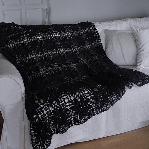French Black Old Fabric