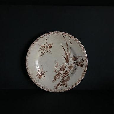 19th.C France GIEN デザート皿