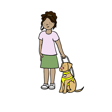 Young Girl_Guide Dog_Standing-G3.png