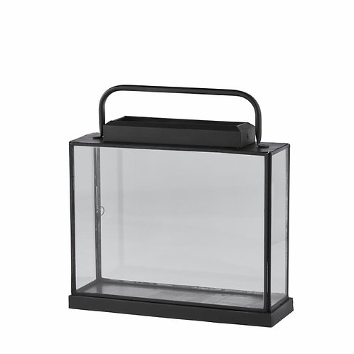 Lanterne verre antique noir Lene Bjerre