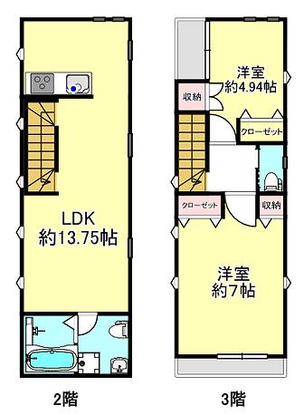 クリアスタイル2・3階図面.PNG