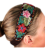 Brown Woven Flowers Headband