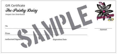 The Paisley Daisy Gift Certificate