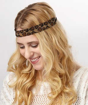 Leopard Beaded Headband