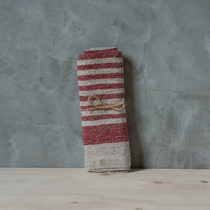 Linen Tea Towel 【red】