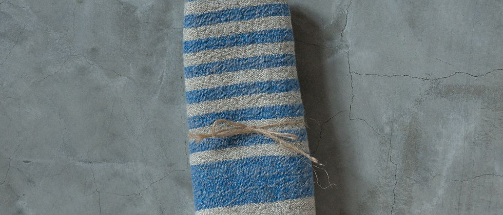 Linen Tea Towel 【blue】