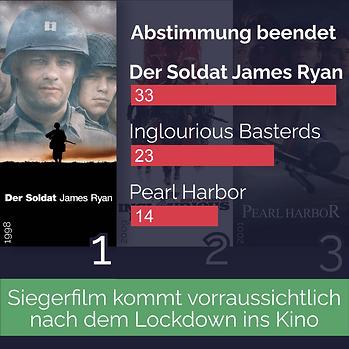 Abstimmung beendet Kriegsfilme Dez 2020.