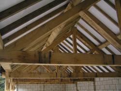 New build garage with oak framing