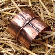 Cross Fold Form Copper Cuff