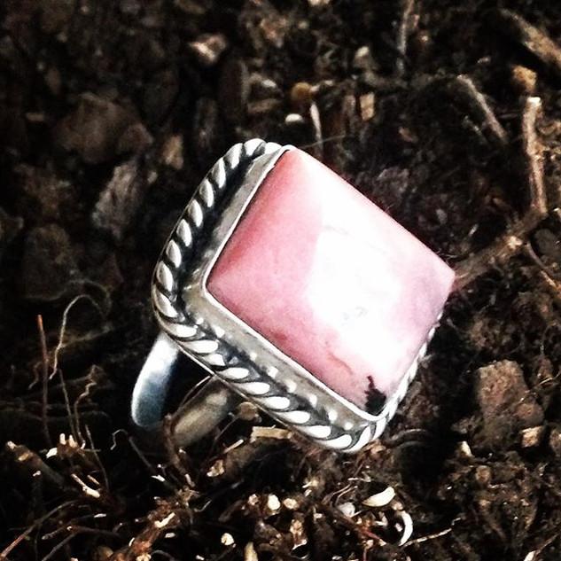Rhodonite ring