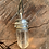 Thumbnail: Large clear quartz meditation spinner pendant.