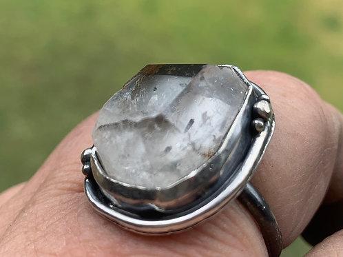 Clear quartz bling ring