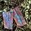 Thumbnail: Hand forged enamel blue copper earrings