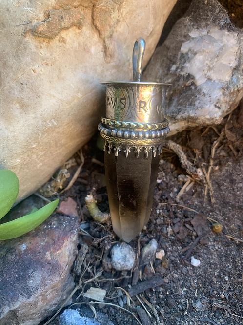 Meditation crystal pendant