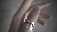 "New silver ring ""R U T E N"" ⠀"