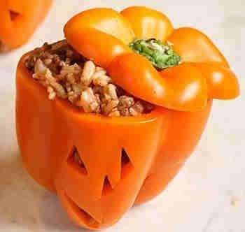 Halloween Stuffed Bell Peppers Recipe