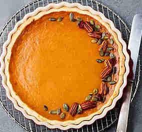 Pumpkin and Pecan Tart
