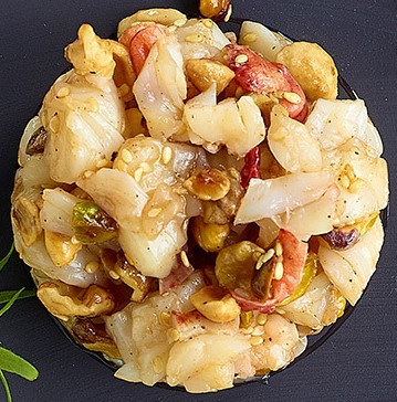 Lobster Tartare with Nuts, Sesame and Soy Sauce