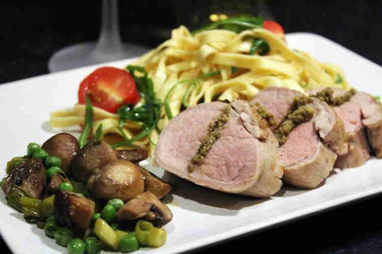 Pork tenderloin with tapenade