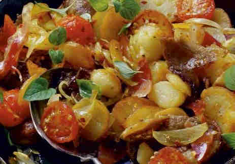 Baked Potatoes with Bacon and Onion