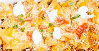 Nachos Dish with Tomatoes and Cheese