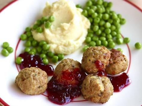 Köttbullar or Swedish lamb meatballs